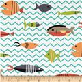 Michael Miller Atomic Tabby's Somethings Fishy Multi