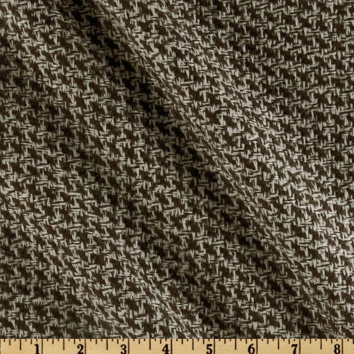 Wool Blend Coating Tetris Brown/White