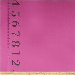 Kokka Canvas Ruler Border Print Pink Fabric