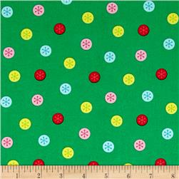 Marcus Frosty Flamingo Deco Dots Green