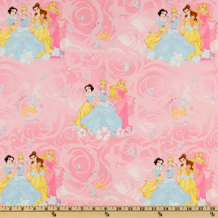 Disney Princess Scenic Pink Fabric