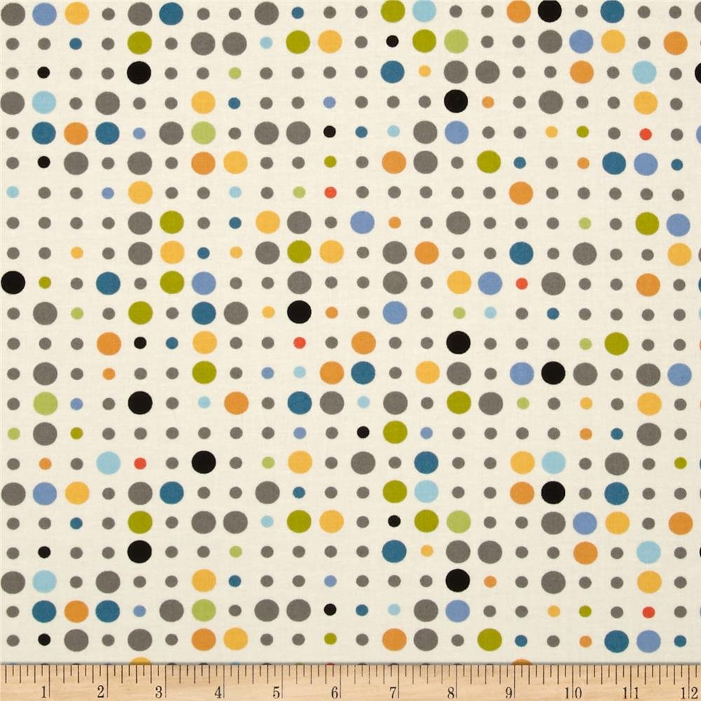 Moda Reel Time Dots Chalk/Multi