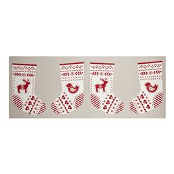When I Met Santa's Reindeer Stocking Panel Red