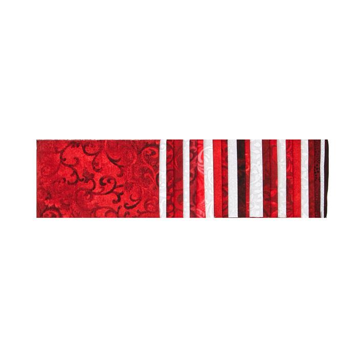 "#1 Fan Essential Gems 2.5"" Strips Red/White"