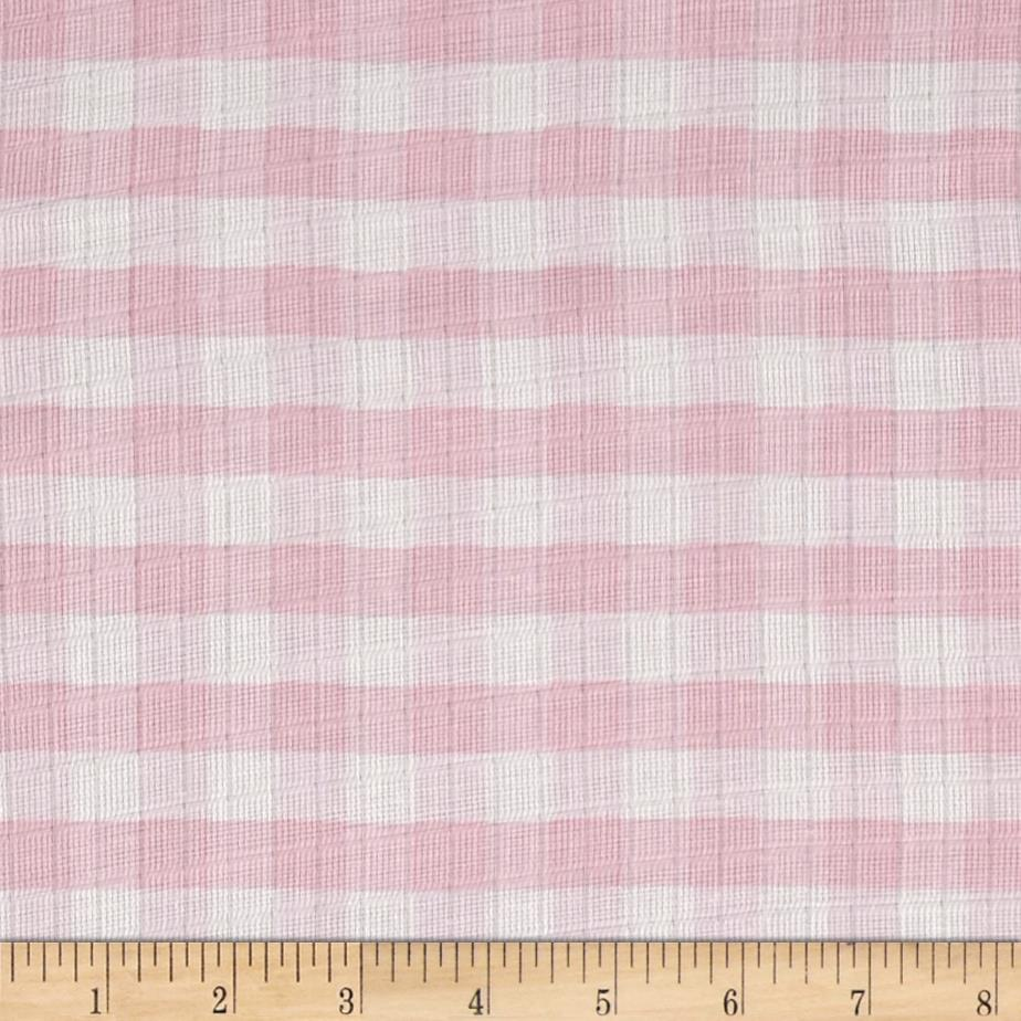 "Riley Blake Double Gauze 1/2"" Gingham Pink"