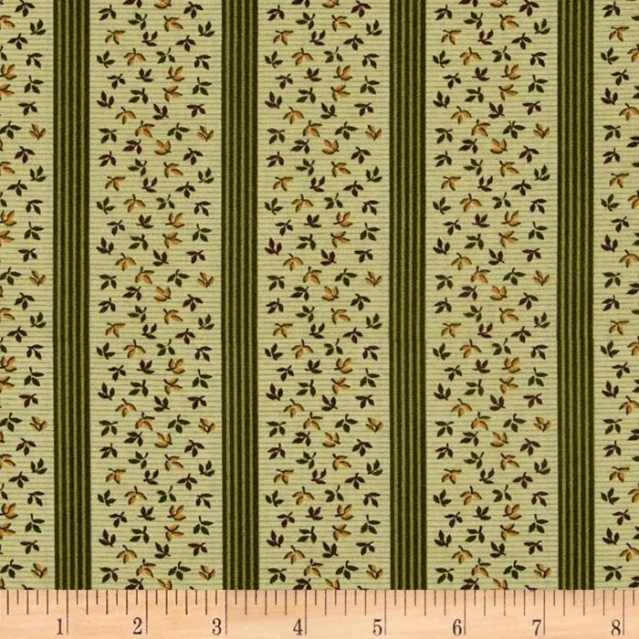 Bread and Butter Leaf Stripe Green