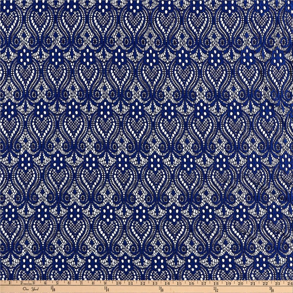 Ornamental lace navy discount designer fabric for Cheap fabric material