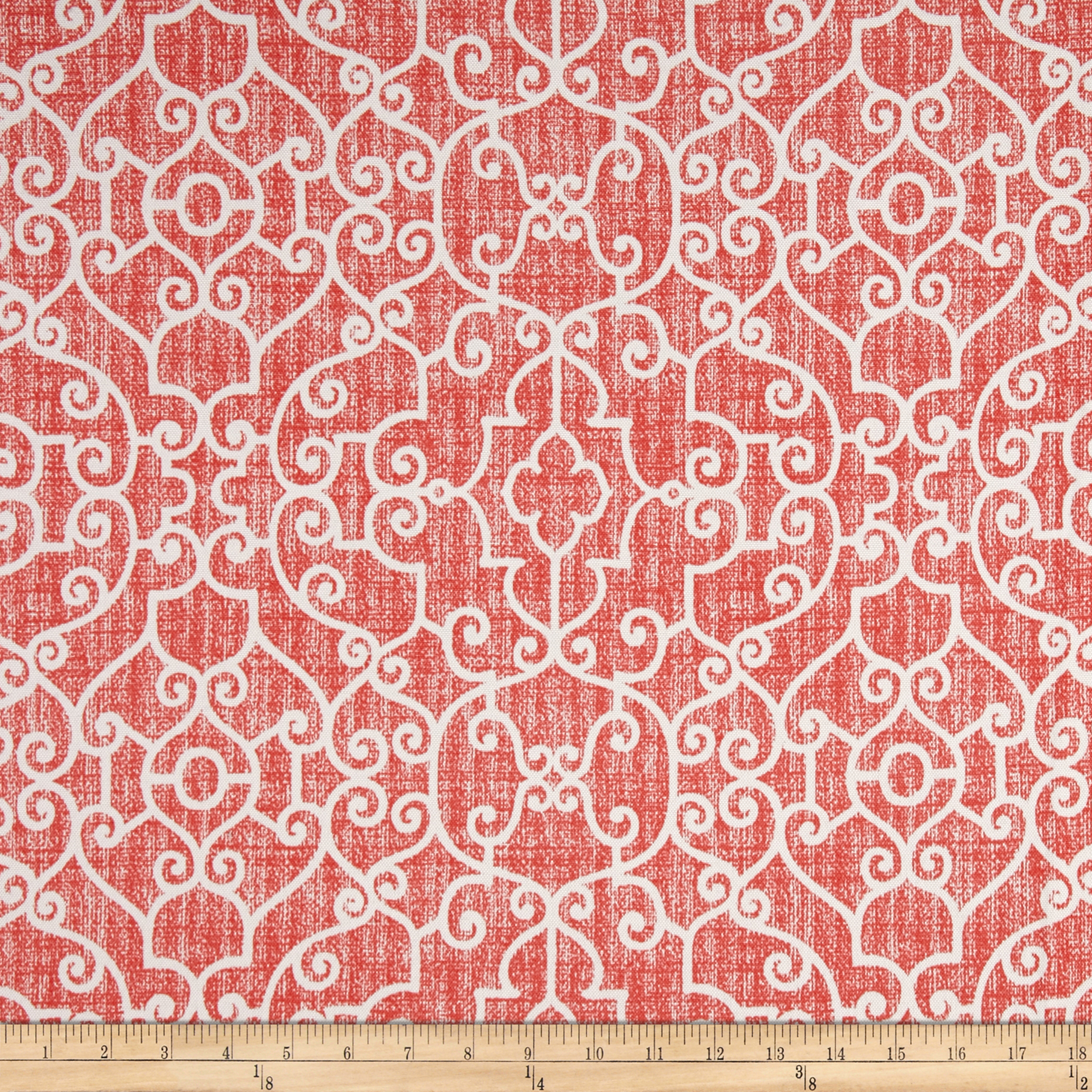 Premier Prints Ramey Indoor/Outdoor Indian Coral Fabric by Premier in USA