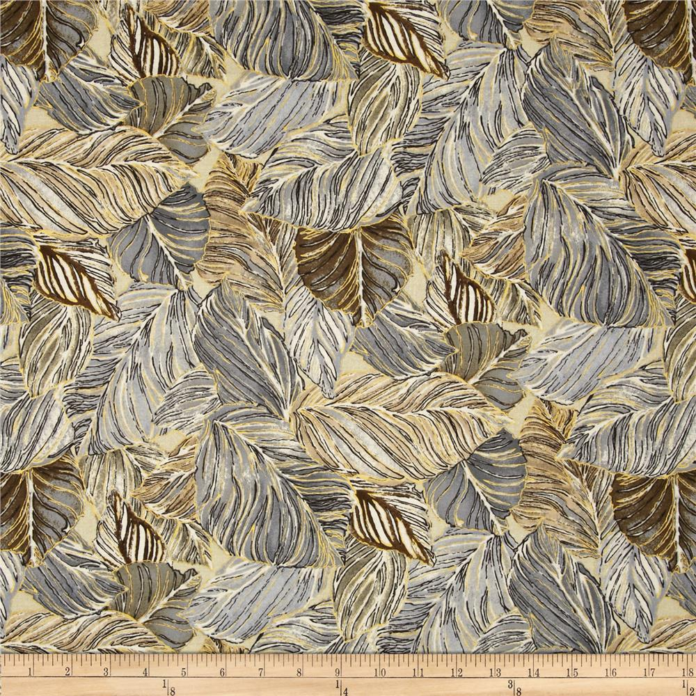 Bellissima Metallic Packed Leaves Granite/Gold