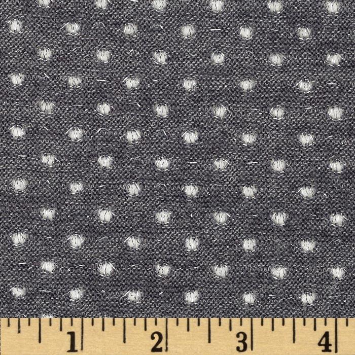 Amanda Stretch Sweater Knit Sparkle Dot Grey