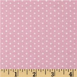 Kaufman Spot On Pearl Metallic Small Dot Baby Pink