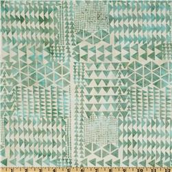 Bali Batik Triangles Aquarius Aqua
