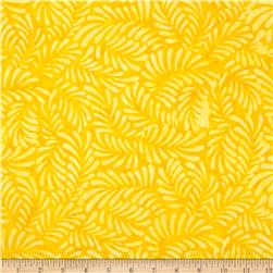 Batavian Batiks Feathers Yellow