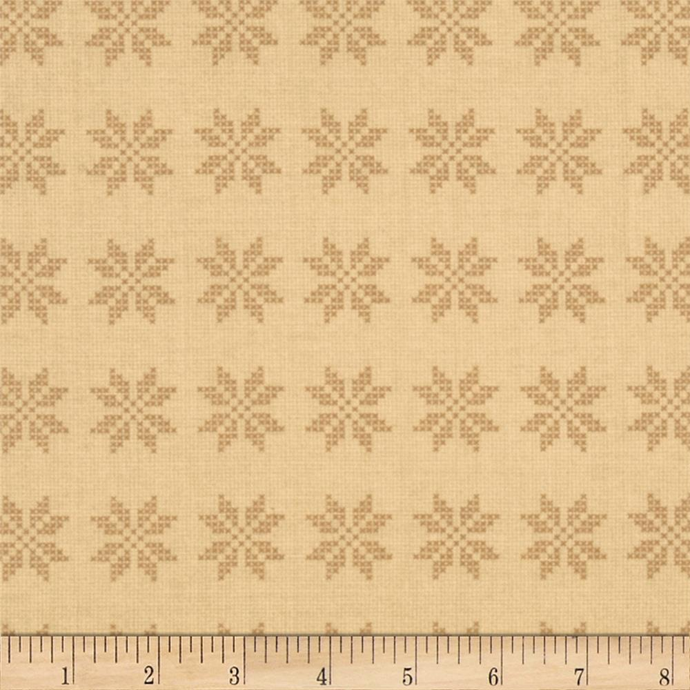 Moda Nature's Basket Woven Star Sampler Dried Yarrow