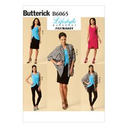 Butterick Misses' Jacket, Top, Dress, Skirt and Pants Pattern B6065 Size 0Y0