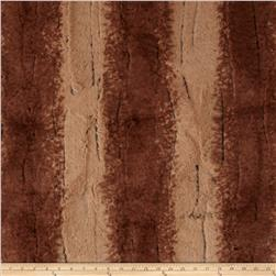 Minky Fancy Beaver Soft Cuddle Maple Fabric