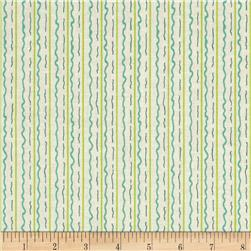 Marmalade Cottage Stripe Teal/Green