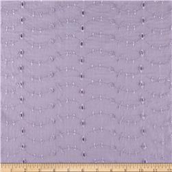 Eyelet Allover Lilac Fabric