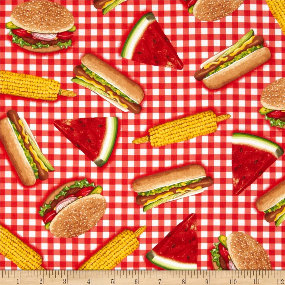 Kaufman Kiss the Cook Picnic Food Red