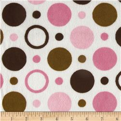 Minky Space Balls Light Pink/Brown Fabric