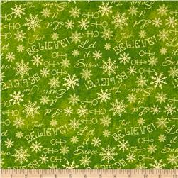 Holiday Dreams Words Green