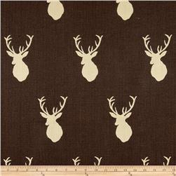 Mountain Cabin White Tail Jacquard Mount Chocolate