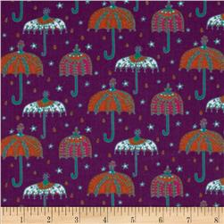 Kaufman 21 Wale Cool Cords Umbrellas Amethyst Fabric