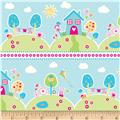 Riley Blake Sweet Home Scenic Stripe Blue