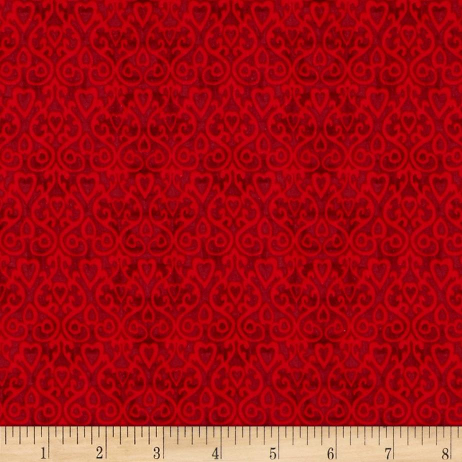The cardinal rule heart damask red discount designer for Where to get fabric