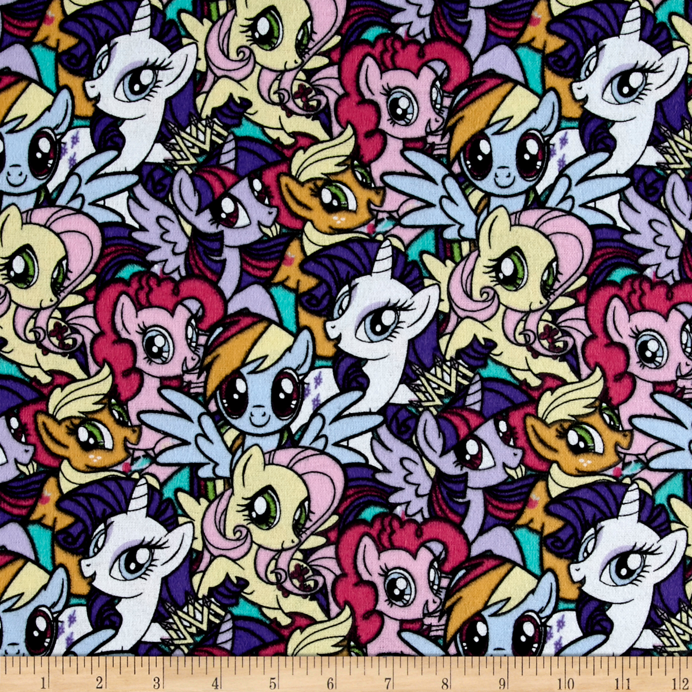 Hasbro My Little Pony Pack gang Flannel Multi Fabric by E. E. Schenck in USA