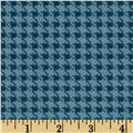 Riley Blake Round Up Houndstooth Blue