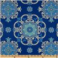 Waverly Sun N Shade Quilted Garden Crest Marine
