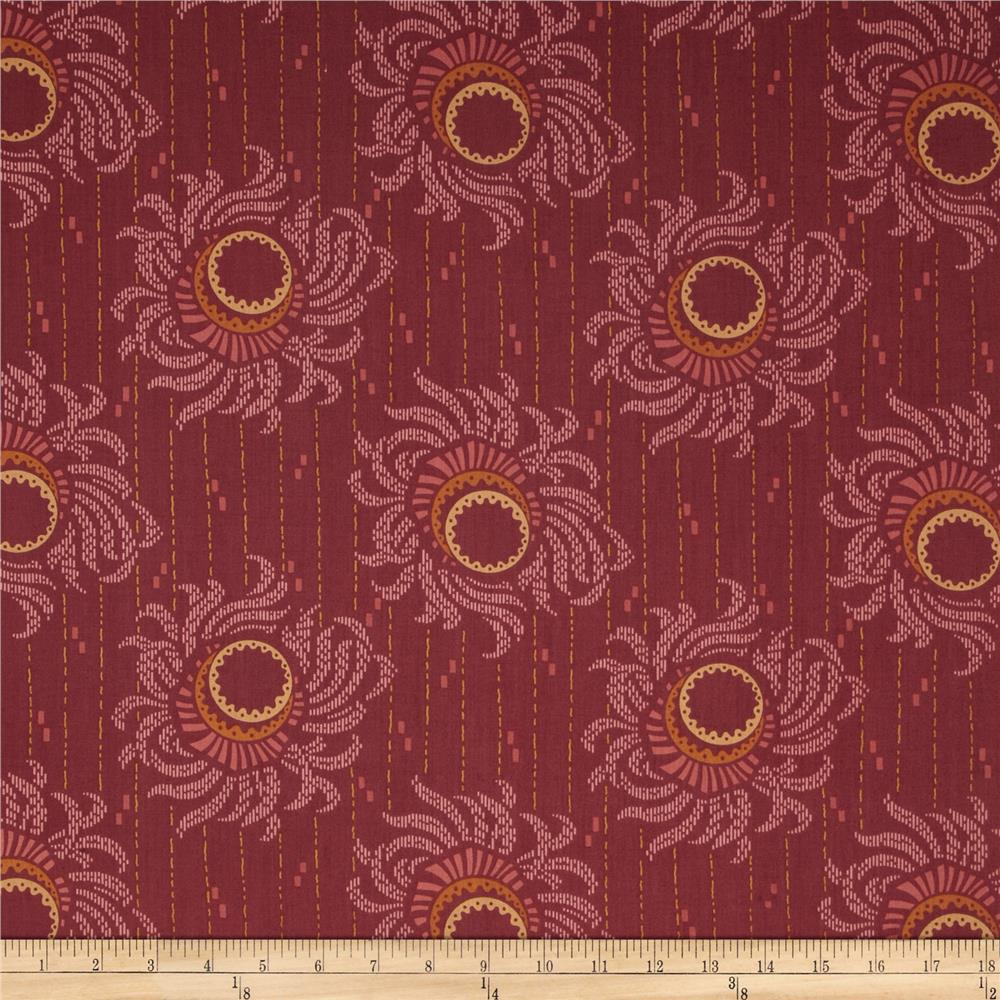 Downton Abbey II Flower Strings Red