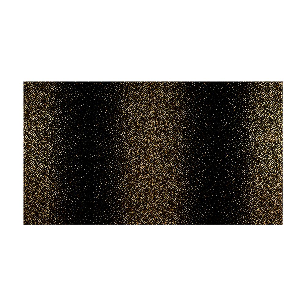Kaufman Winter's Grandeur 4 Metallics Double Border Dots Black