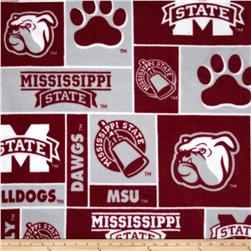 Collegiate Fleece Mississippi State Bulldogs Burgundy/Grey