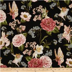 Fairy Briar Metallic Fairy Flower Antique Black