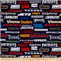 NFL Cotton Broadcloth All Team Blue
