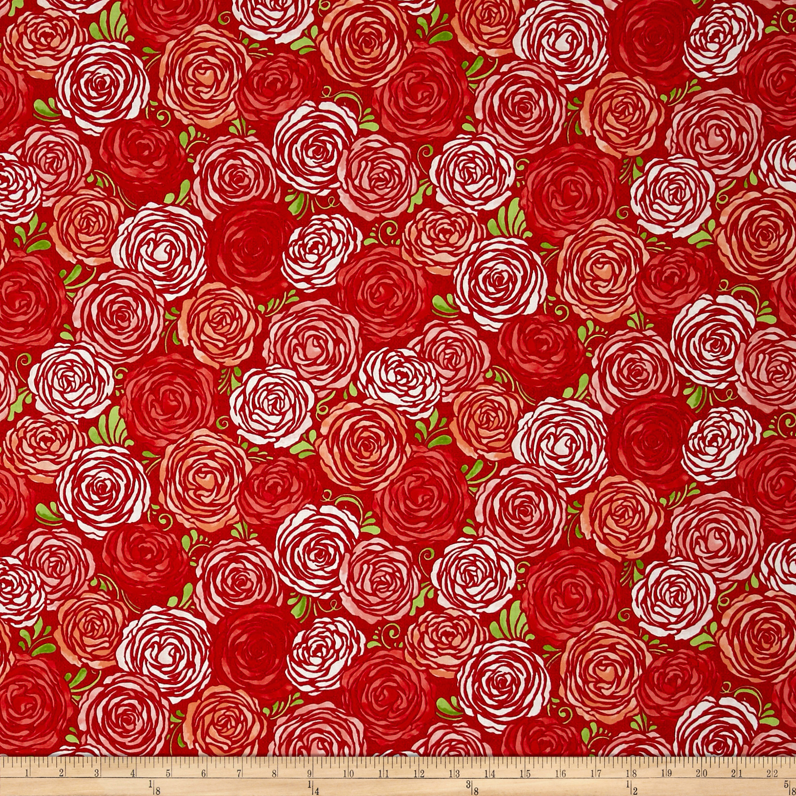 Sugar Berry Candied Roses Metallic Radiant Berry Fabric