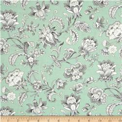 Gracious Skies Jacoban Floral Mint/Grey