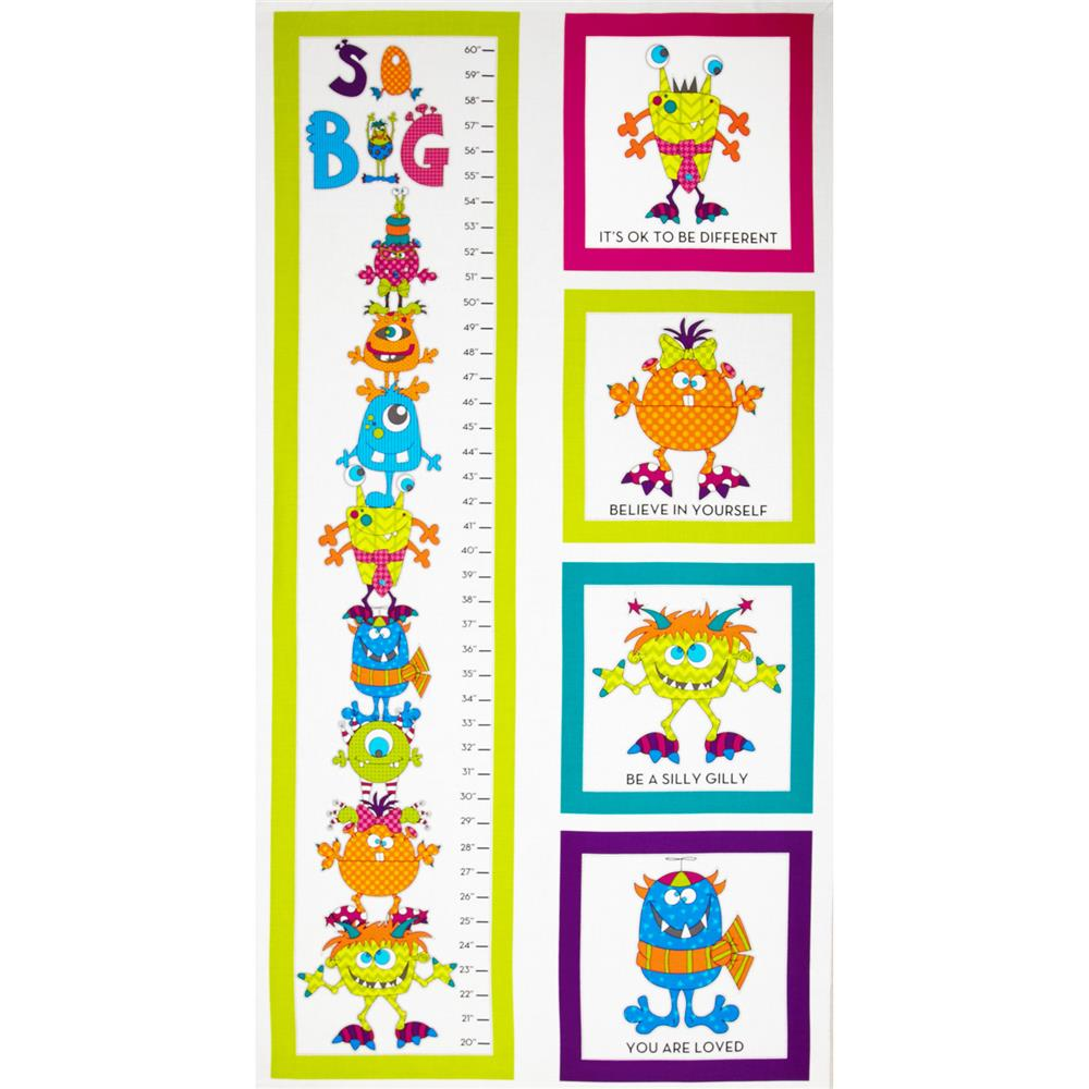 Silly Gilly Friends Growth Chart Panel White Discount Designer