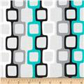 Graffiti Abstract Chainlinks Turquoise/Grey