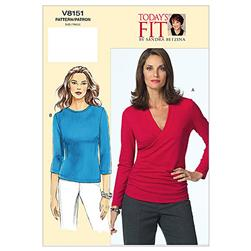 Vogue Misses' Top Pattern V8151 Size 0A0