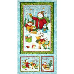 Winter Wonderland Metallic Panel Multi Fabric