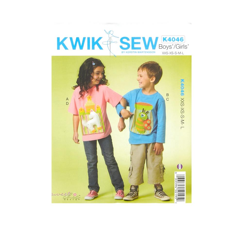 Kwik Sew Boys/Girls Tops with Embellishments Pattern