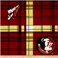 Florida State University Fleece Plaid Garnet