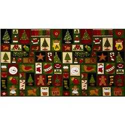 Holiday Squares Green/Multi