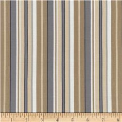 Timeless Treasures Wee Woodland Stripe Neutral