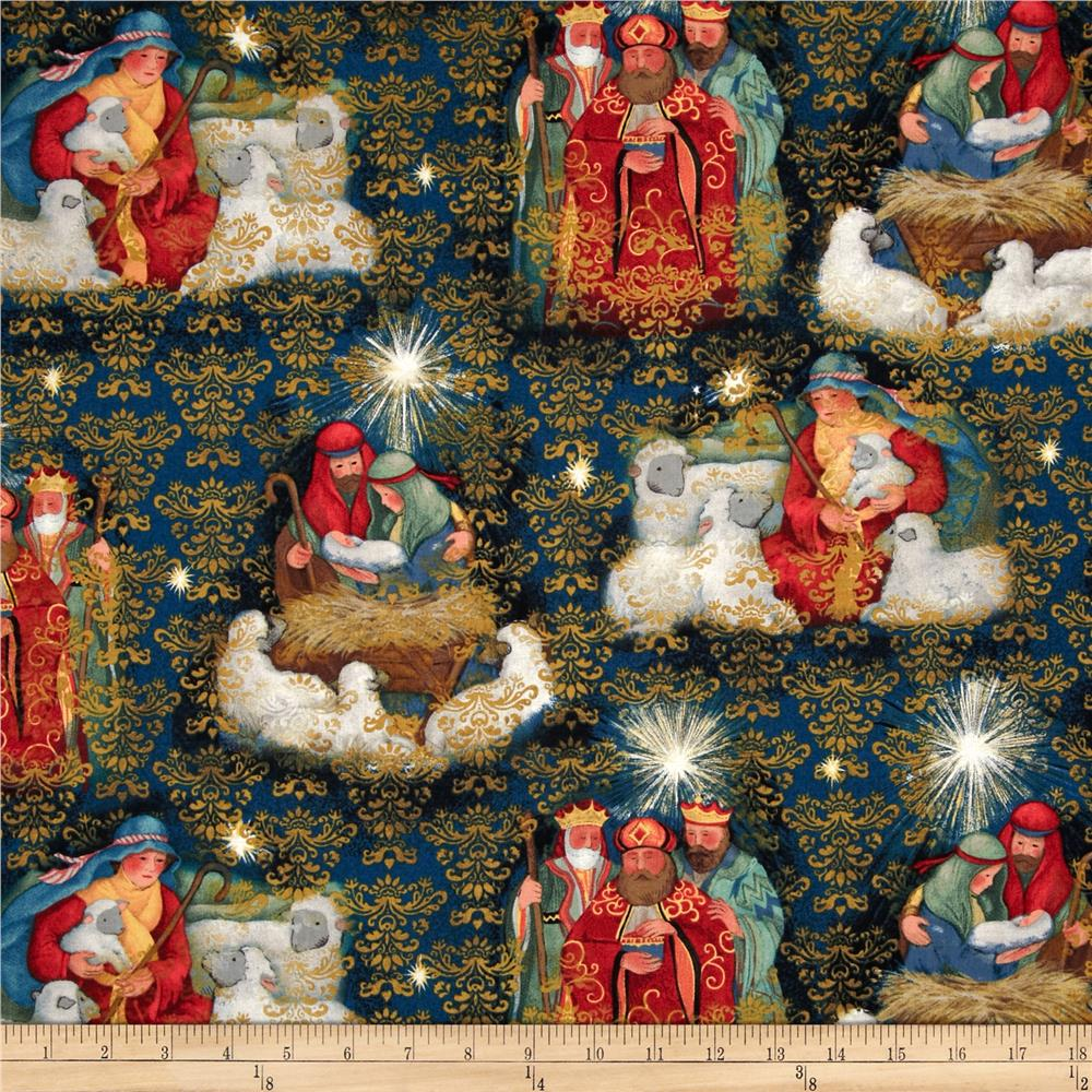 Christmas Nativity Three Kings Blue