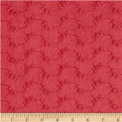 Cotton Eyelet Star Dark Coral