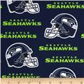 NFL Cotton Broadcloth Seattle Seahawks Blue/Green